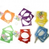 3 SQUARE SHAPE BANGLE SETS IN BRIGHT COLORS