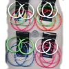 NEON 3 PAIRS OF DIFFERENT HOOPS EARRINGS STYLES PER UNIT