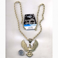 EAGLE NECKLACE GOLD COLOR LEAD FREE