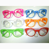 CLEAR LENS NEON FRAMES CAT EYE SHAPE