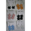 2 STARS IN ASSORTED COLOR EARRINGS, METAL