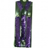 SEQUIN PURPLE SUSPENDERS