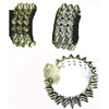 SPIKE HINGED BRACELETS IN GOLD AND SILVER