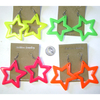 80&#39S  STAR SHAPE NEON COLOR EARRINGS