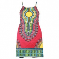 DASHIKI SHORT DRESS IN ASSORTED BRIGHT COLORS  MED & LRG ONLY