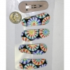 HOLOGRAPHIX  LOOKING  SWIRLS HAIR CLIPS, COOL DESIGN
