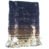 SEQUIN TUBE SHORT SKIRT  WITH  RUFFLE BOTTOM