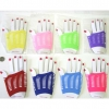 FINGERLESS GLOVES IN ASSORTED COLORS WITH SLITS