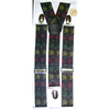 POT LEAF PRINT (RASTA COLORS) WIDE SUSPENDERS