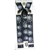 SPIDER WEB WIDE SUSPENDERS, BLACK & WHITE ONLY