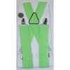 NEON GREEN WIDE SUSPENDERS WITH METAL