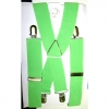 WIDE LIME GREEN SUSPENDERS