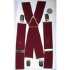 WIDE SUSPENDERS, MAROON COLOR