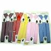 WIDE SUSPENDERS CHECKERBOARD PRINT, ASSORTED COLORS