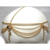 RHINESTONE LINE DROP HEADCHAIN IN GOLD