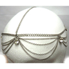 RHINESTONE DROP CLASSIC HEAD CHAIN IN SILVER