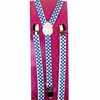 CHECKERBOARD PRINT BLUE/WHITE  THIN SUSPENDERS