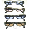 SNAKE SKIN LOOK, COLOR LENS, SMALL FRAME COOL SUNGLASSES