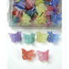 MINI GLITTER  COLOR BUTTERFLY HAIR CLIPS 4 DZ/BX, 4 DZ FOR .00