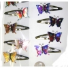 BUTTERFLY HAIR CLIPS, COOL METALLIC COLORS