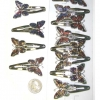 BUTTERFLY HAIR CLIPS, ASSORTED MOSAIC COLORS