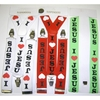 I LOVE JESUS SUSPENDERS, 3 COLORS