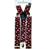 HEARTS  SUSPENDERS BLACK WITH RED HEARTS