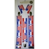 AMERICAN FLAGS AND RED,WHITE & BLUE STRIPE SUSPENDERS
