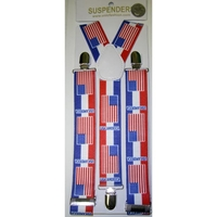 USA FLASG AND COLORS SUSPENDERS