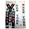 I LOVE NEW YORK SUSPENDERS-BLACK AND WHITE, LARGER PRINT