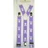 SMALLER SKULLS & CROSS BONES LAVENDER COLOR SUSPENDERS