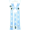 SMALLER SKULLS & CROSS BONES BLUE SUSPENDERS