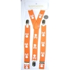 SMALLER SKULLS & CROSS BONES ORANGE SUSPENDERS