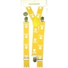 SMALLER SKULLS & CROSS BONES YELLOW W/ WHITE SKLS SUSPENDERS