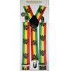 LION, RASTA COLOR STRIPE SUSPENDERS