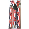 TRINIDAD SUSPENDERS BLACK,WHITE, RED