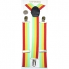 RED, YELLOW & GREEN STRIPE SUSPENDERS