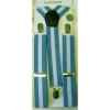 BLUE-WHITE-BLUE STRIPE SUSPENDERS
