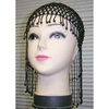 BEADED HEAD PIECE- BLACK