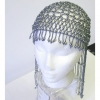 BEADED HEAD PIECE-GREY