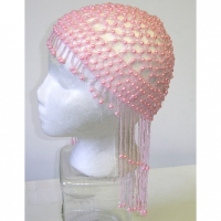 BEADED HEAD PIECE-PINK