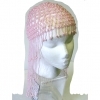 BEADED HEAD PIECE PINK AND PINKISH/WHITE LARGER BEAD