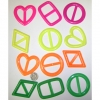 80&#39S FASHION T-SHIRT TIES, 4 SHAPES, 4 COLORS