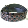 CHECKERBOARD BROWN & BLACK STUDS BELT