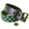 CHECKERBOARD GREEN & BLACK STUD BELTS