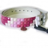 PINKISH STUDS STEP PATTERN BELTS