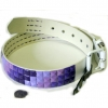 PURPLE SHADES(4) STUDS BELT