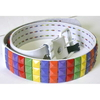 RAINBOW  STUDS BELT O WHITE