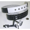 BLACK STUDS ON A WHITE BELT