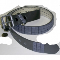 GREY STUDS ON A GREY BELT